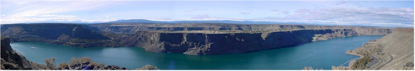 Panoramic view of Lake Billy Chinook in Central Oregon