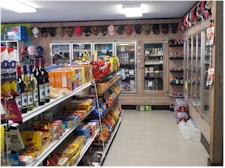 View of snack isle inside The Cove Corner Store