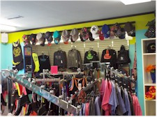 Clothing isle inside Cove Corner Store