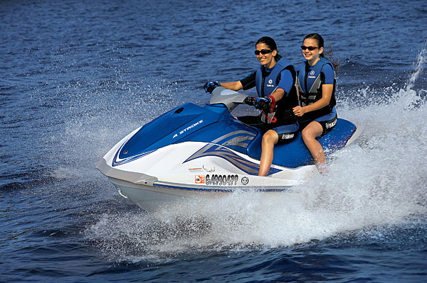 The Yamaha rental waverunner